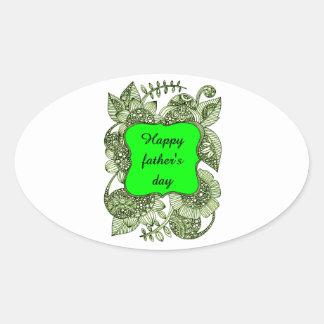 Adesivo Oval Dia dos pais feliz