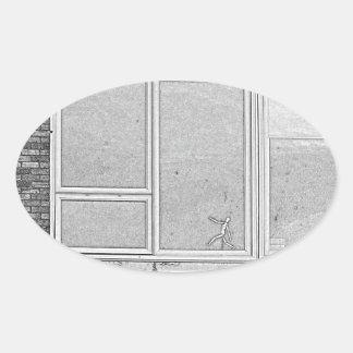Adesivo Oval dimensão