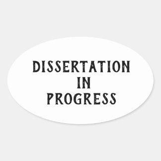 Adesivo Oval Dissertação em andamento
