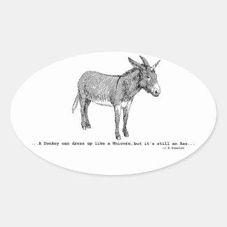 Adesivo Oval DIY DonkeyUnicorn ver2
