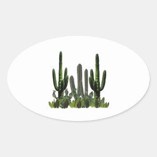 Adesivo Oval Domínio do deserto