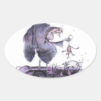 Adesivo Oval doninha das mães do ol de yorkshire do amor