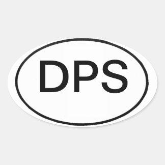 Adesivo Oval DPS: registro internacional do veículo motorizado