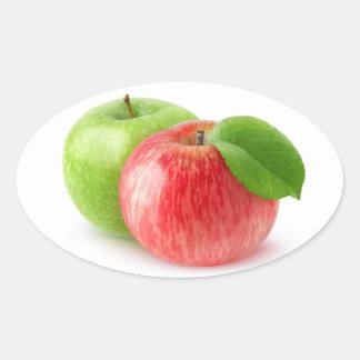 Adesivo Oval Duas maçãs