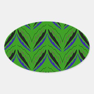 Adesivo Oval Eco verde dos elementos do design