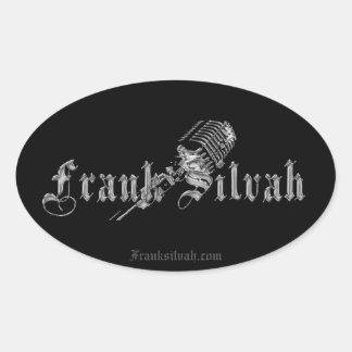 Adesivo Oval Edição de Frank Silvah (etiqueta)