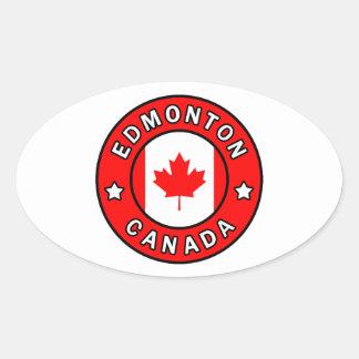 Adesivo Oval Edmonton Canadá
