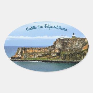Adesivo Oval EL Morro que guarda a entrada da baía de San Juan