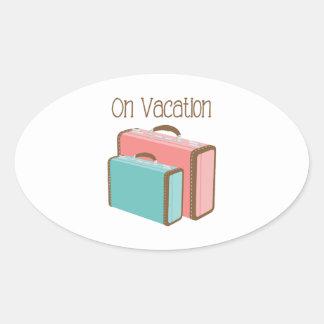Adesivo Oval Em férias