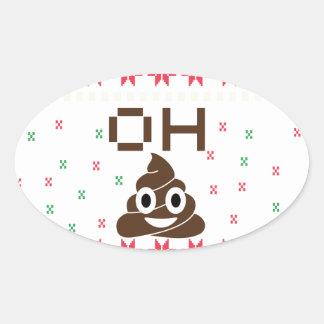 Adesivo Oval Emoji do tombadilho
