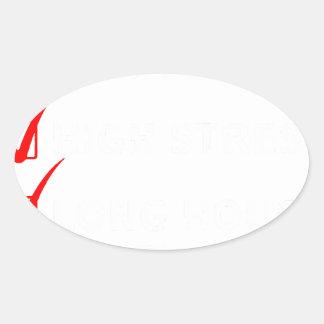 Adesivo Oval engenheiro do projeto
