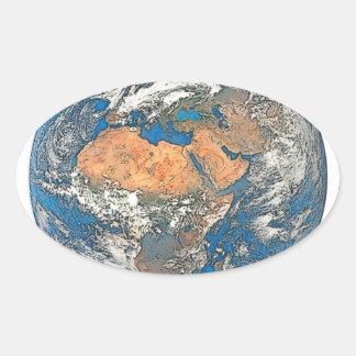 Adesivo Oval Enterre a vista focalizada no berço da civilização