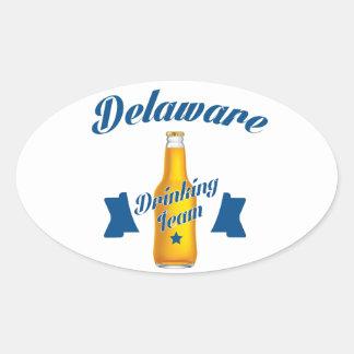 Adesivo Oval Equipe do bebendo de Delaware