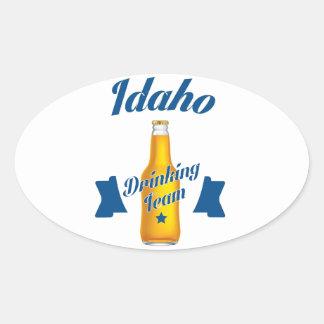 Adesivo Oval Equipe do bebendo de Idaho