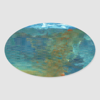 Adesivo Oval Era o mar