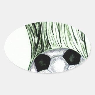 Adesivo Oval Esboço 4 da bola de futebol