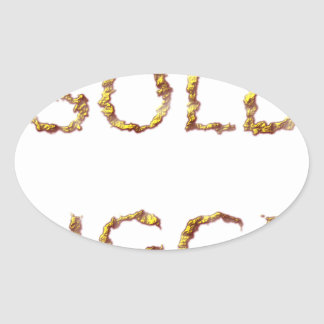 Adesivo Oval Escavador de ouro