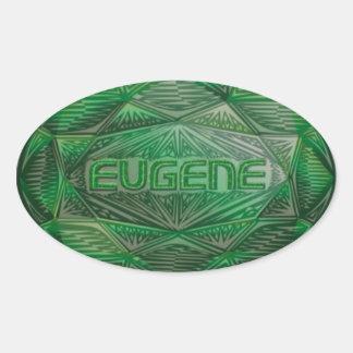 Adesivo Oval Esmeralda de Eugene