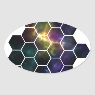Adesivo Oval espaço geométrico