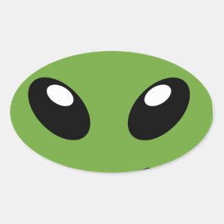 Adesivo Oval Espaço verde estrangeiro