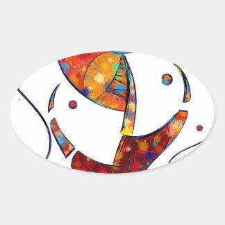 Adesivo Oval Espanessua - flor espiral imaginária
