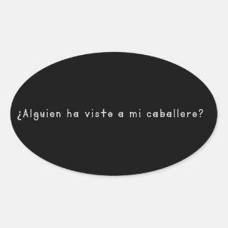 Adesivo Oval Espanhol-Cavaleiro