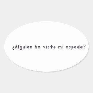 Adesivo Oval Espanhol-Espada