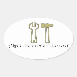 Adesivo Oval Espanhol-Ferreiro
