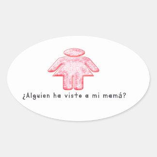 Adesivo Oval Espanhol-Momma