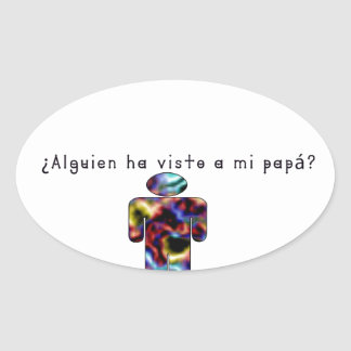 Adesivo Oval Espanhol-Pai