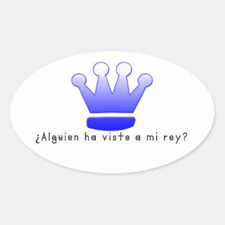 Adesivo Oval Espanhol-Rei