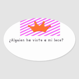 Adesivo Oval Espanhol-Tolo