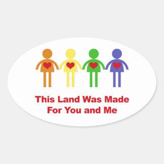 Adesivo Oval Esta terra foi feita para você e mim