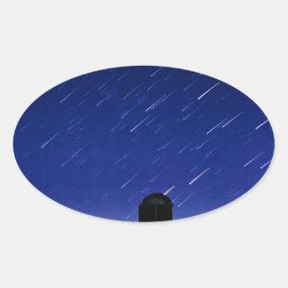 Adesivo Oval Estrelas da fazenda