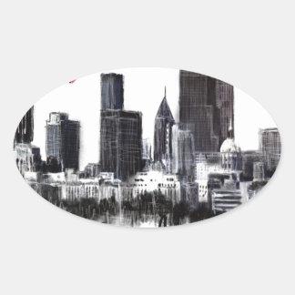 Adesivo Oval Eu amo Atlanta