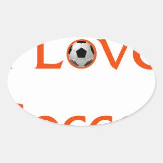 Adesivo Oval Eu amo o futebol