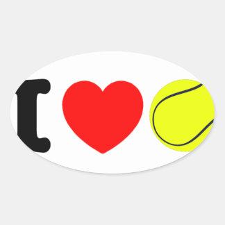 Adesivo Oval Eu amo o tênis