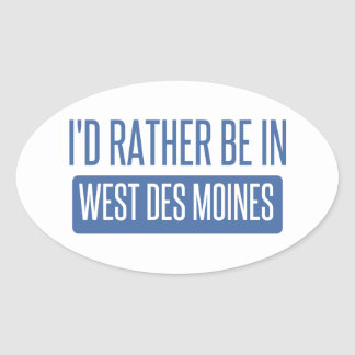 Adesivo Oval Eu preferencialmente estaria em Des Moines