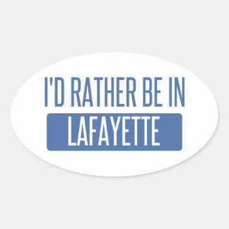 Adesivo Oval Eu preferencialmente estaria em Lafayette DENTRO