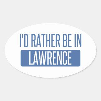 Adesivo Oval Eu preferencialmente estaria em Lawrence DENTRO