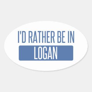 Adesivo Oval Eu preferencialmente estaria em Logan