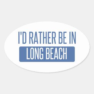 Adesivo Oval Eu preferencialmente estaria em Long Beach CA