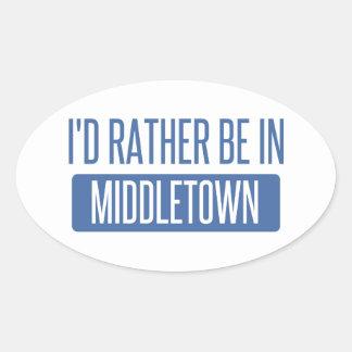 Adesivo Oval Eu preferencialmente estaria em Middletown CT