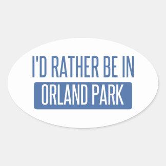 Adesivo Oval Eu preferencialmente estaria em Orland Park