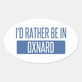 Adesivo Oval Eu preferencialmente estaria em Oxnard