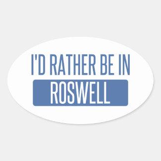 Adesivo Oval Eu preferencialmente estaria em Roswell nanômetro