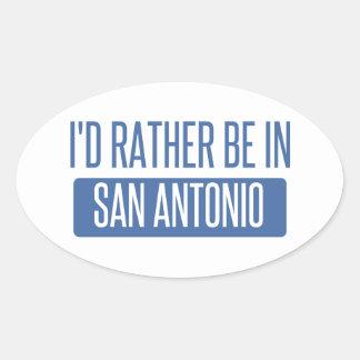 Adesivo Oval Eu preferencialmente estaria em San Antonio