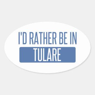 Adesivo Oval Eu preferencialmente estaria em Tulare