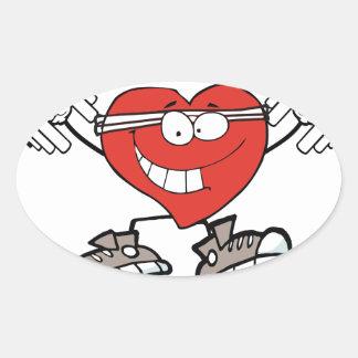 Adesivo Oval exercício heart2