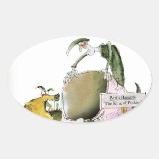 Adesivo Oval fabricante da salsicha de yorkshire do amor